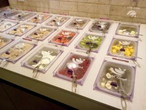 Tampas em acrílico para sorveteria e lojas de açaí na tigela.